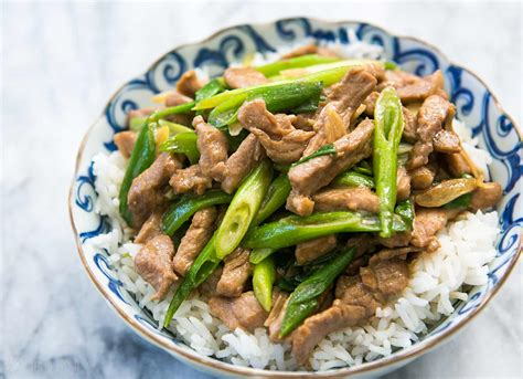 pork stir fry with green onion recipe simplyrecipes com