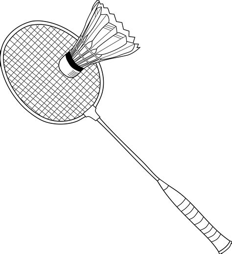badminton racket colouring pages