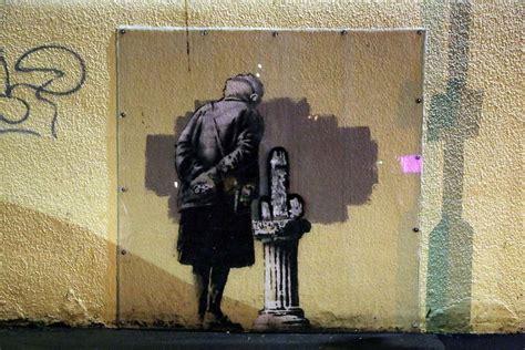 spray paint artist banksy o banksy wherefore thou banksy widewalls
