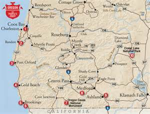 southern oregon map southern oregon coast map pictures to pin on