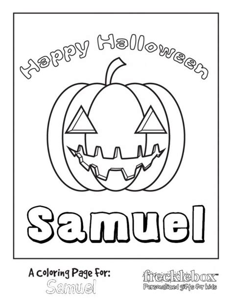 personalized printable halloween coloring pages