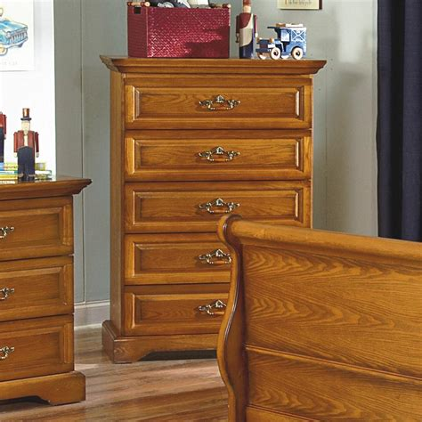 New Classic Bedroom Furniture New Classic Honey Creek 1133 070 5 Drawer Lift Top Chest Sol Furniture Chest Of Drawers
