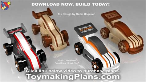 wood toy plans wild rugged gt race cars youtube