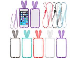 Ultrathin Samsung Mega 58inch Softcase Tpu Jelly Silikon rabbit bunny ears tpu rubber bumper neck rope for 5 5 quot apple iphone 6 plus