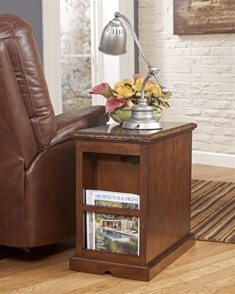 davis chairside with power outlet signature design by laflorn chairside end
