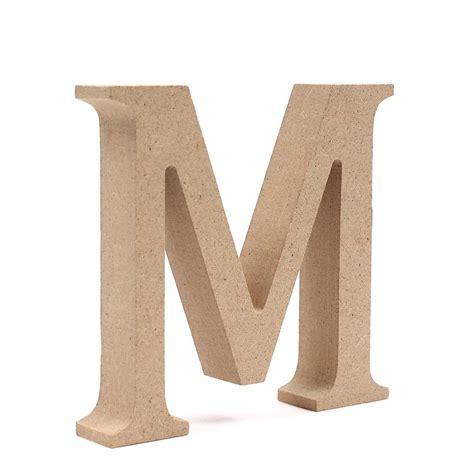 Uk M mdf wooden letter m 8 cm hobbycraft