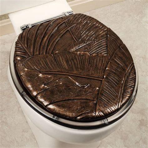 tropical foliage toilet seat dark brown sandis likes