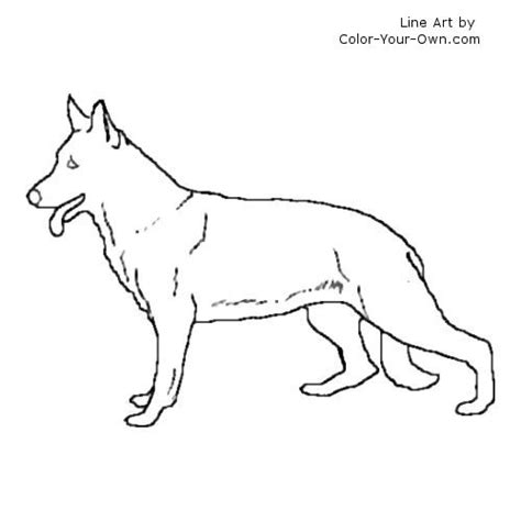 coloring pages of german shepherd german shepherds colouring pages