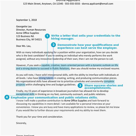 how to write a pr cover letter relations cover letter exle