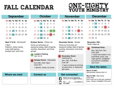 youth ministry calendar template oofilecloud