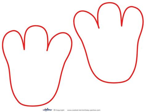 elmo template printable elmo footprints sesame