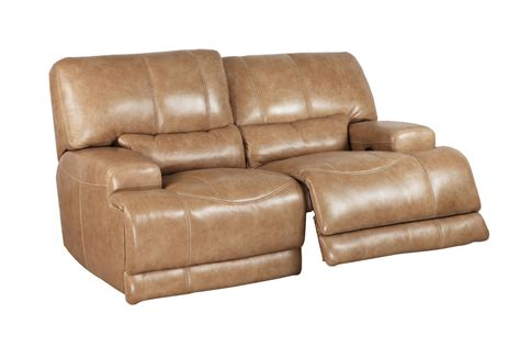 Power Reclining Loveseats by Hamlin Power Reclining Leather Loveseat