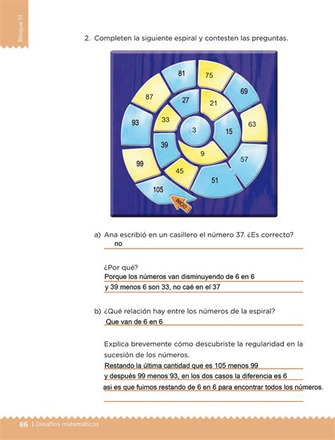 respuestas de la pajina 85 de primaria los juegos bloque iii lecci 243 n 37 apoyo primaria