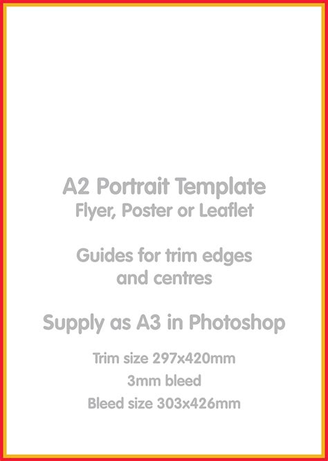poster template a2 a2 portrait template skyblue designworks