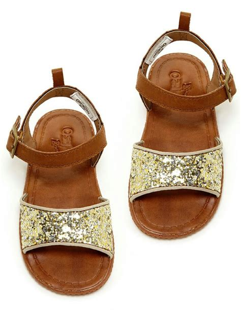 baby gold sandals sparkly gold cognac baby sandals oshkosh babies