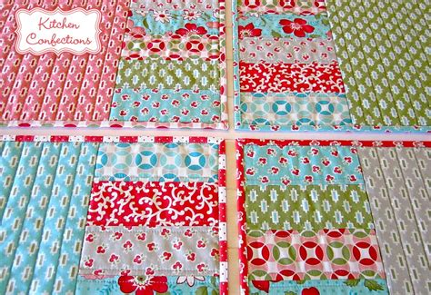 Patchwork Table Mats Pattern - kitchen confections in moda s vintage modern patchwork
