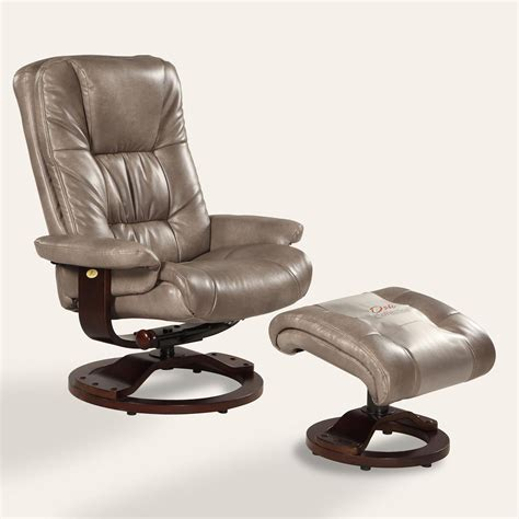 leather swivel recliner with ottoman mac motion oslo bonded leather swivel recliner with