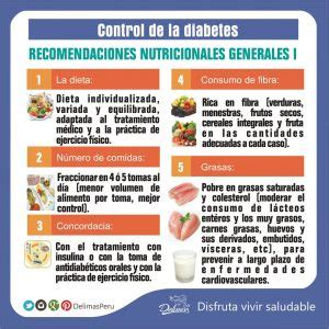 dieta  la diabetes recomendaciones nutricionales generales alimentacion saludable delimas