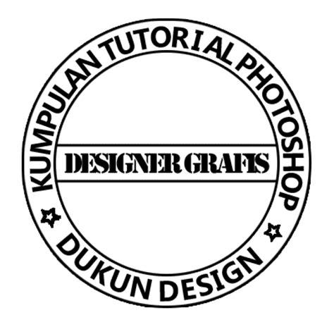 dukun design  membuat stempel lingkaran  photoshop