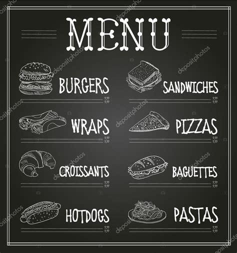 chalkboard menu template chalkboard menu template stock vector 169 topvectors