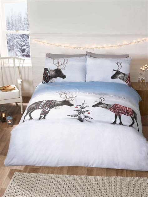 Bed Cover Set 3d Uk 160x200 winter animal woodland duvet covers quilt sets penguin