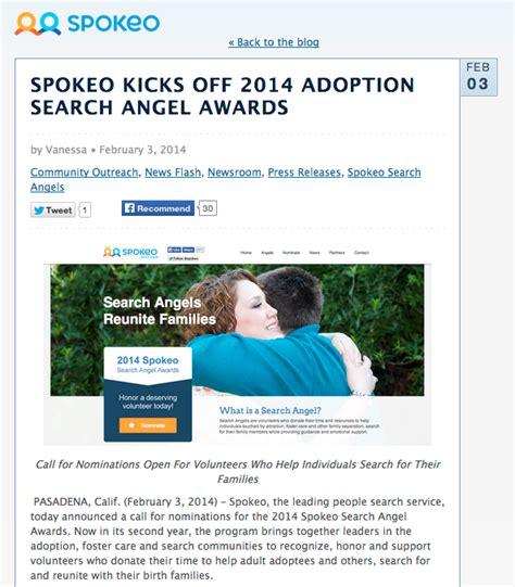 Phone Lookup Spokeo Now Accepting Nominations For Volunteer Adoption Search Spokeo Community