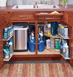 Under Kitchen Sink Storage Ideas by Under The Sink