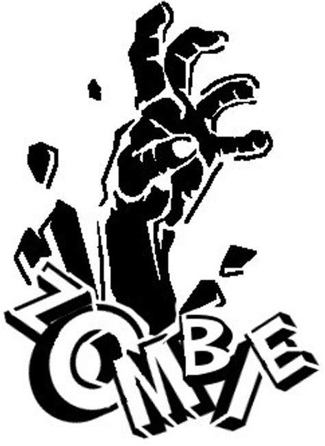 Zombie Fensteraufkleber by Zombie Hand Stencil Design Stencil Ideas Pinterest