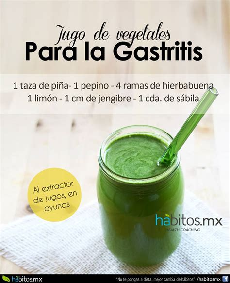 jugo  la gastritis habitos health coaching