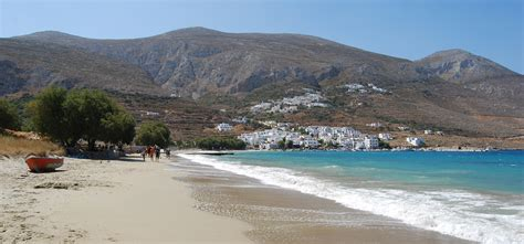 on the beach amorgos beaches the big blue levrossos beach
