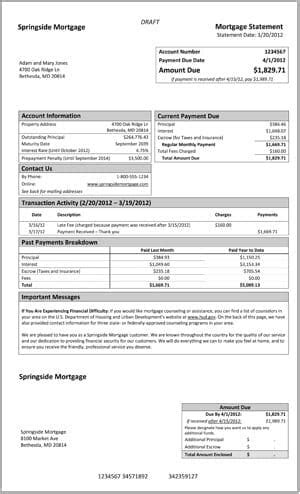 Your Mortgage Statements May Be Changing Mortgage Invoice Template