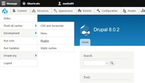 drupal theme user menu choosing modules and themes for drupal 8 evolving web blog