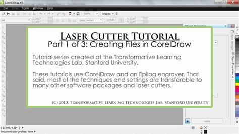 Coreldraw Laser Templates Laser Cutter Tutorial Fablab School Part 1 Of 3 Creating Files In Coreldraw Youtube
