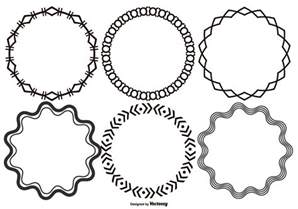 circle frame free vector 8668 free downloads