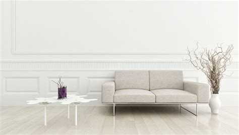 simple white living room wall design
