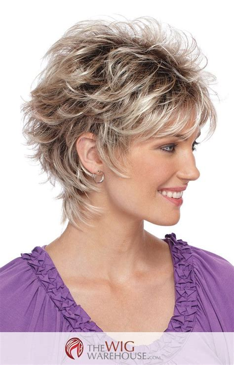 short shaggy hairstyles for wavy hair the spunky christa by estetica designs features a short