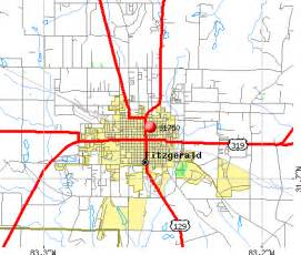 fitzgerald map 31750 zip code fitzgerald profile homes