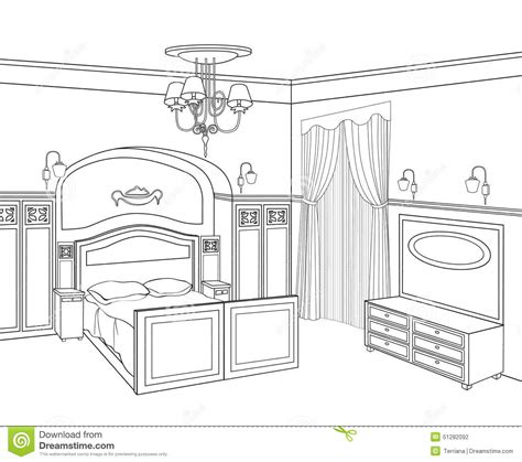 Drawing Room Bed Design Bedroom Furniture Retro Style Bed Room Stock