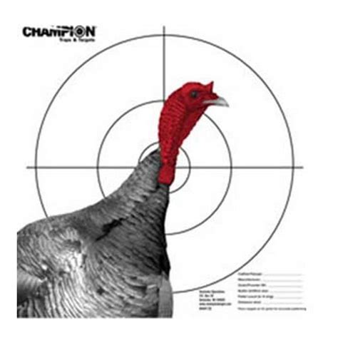 printable turkey target pdf chion traps and targets pattern target full turkey