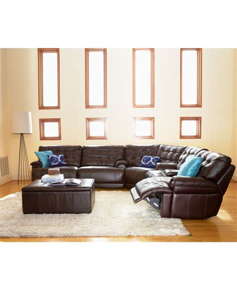 Leather Living Room Sets From Macys Leather Living Room Furniture Reclining Sets And