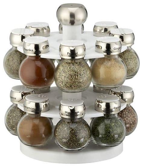 Spice Rack And Jars Revolving Spice Rack With 16 Jars Modern Spice Jars