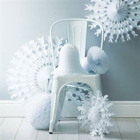 Paper Decoration by Paper Tissue Snowflake Decorations By Pearl And