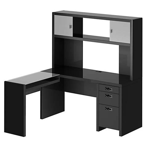 l shaped desk small new york skyline l shape computer desk with hutch wayfair