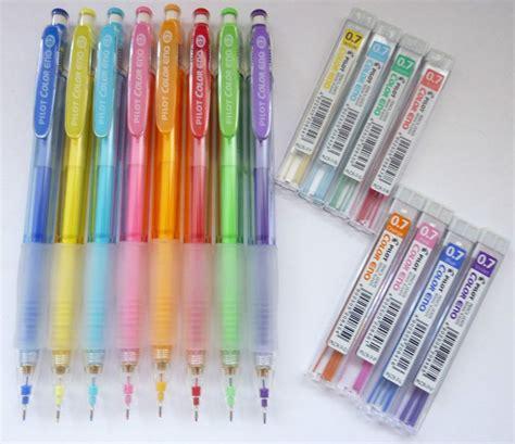 colored lead mechanical pencils 8 color x pilot color eno 0 7mm mechanical pencil lead