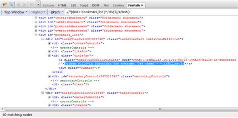 python xpath tutorial python why does the following xpath returns empty list