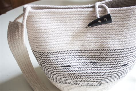 rope basket purse tutorial the summer bag