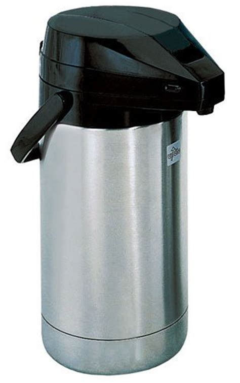 Coffe Pot Stainless 2 Liter coffee consumers update international flsv 25 bk bt stainless steel air pot with black lever