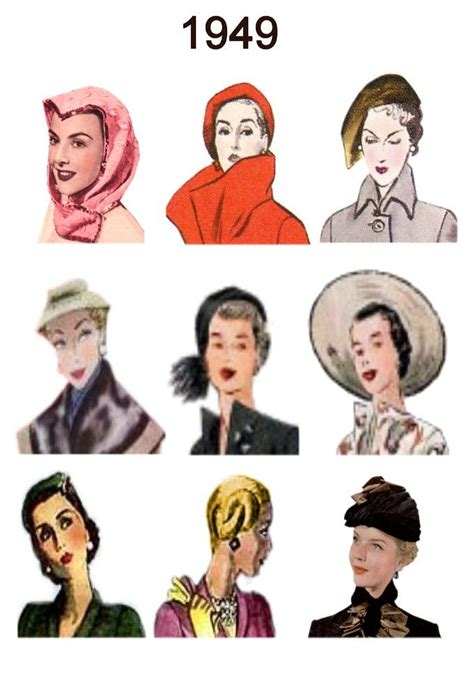 clothing and hair styles of the motown era hats and hairstyles era 1940 s love pinterest hats