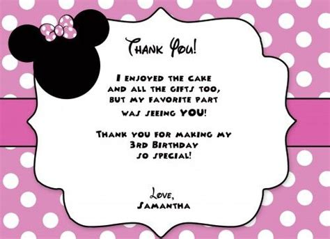 Minnie Mouse Thank You Card Template by 245 Best Planning Ideas Images On