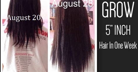 how to grow 2 4 inches of hair in one week learn how to grow 4 inches of hair in just one week its